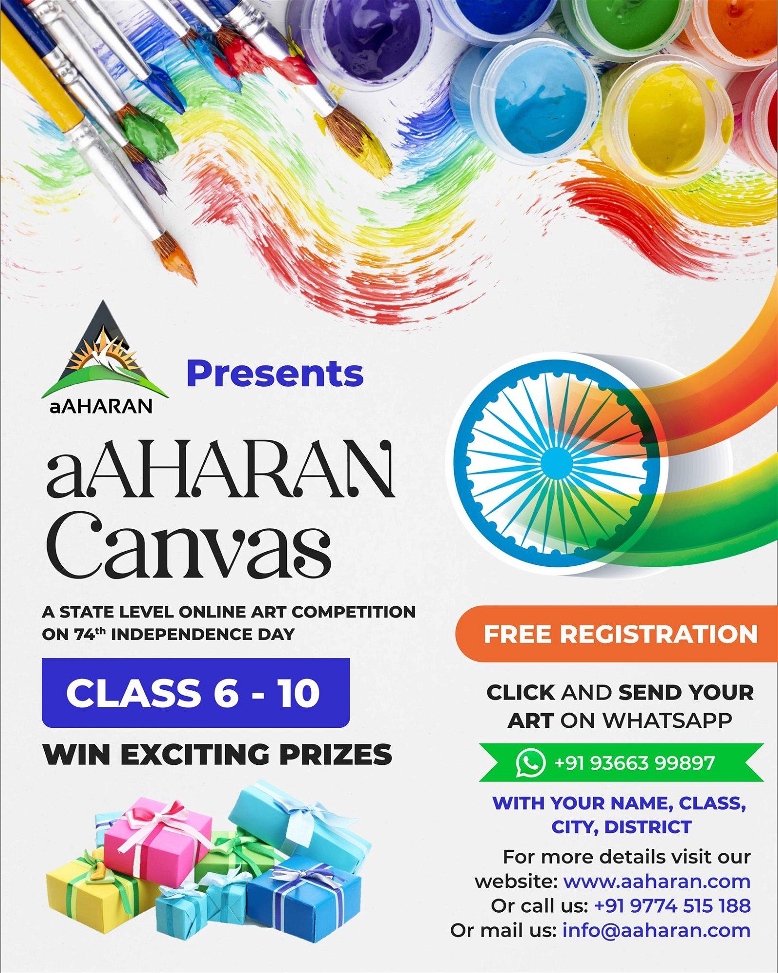 aaharan canvas