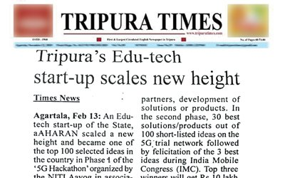 aAHARAN covered by Tripura Times